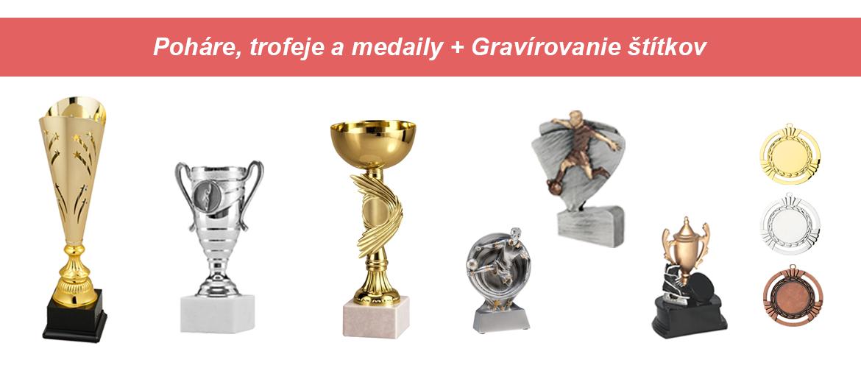 Poháre, trofeje a medaily